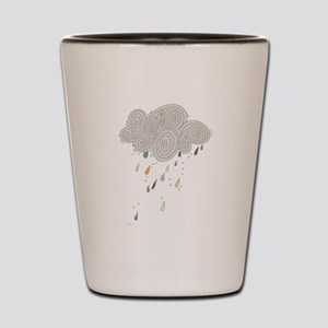 Rain Cloud Illustration Shot Glass