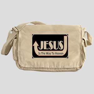 Jesus is the way Messenger Bag