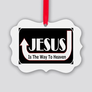 Jesus is the way Picture Ornament