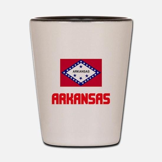 Arkansas Flag Design Shot Glass