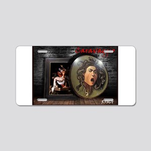 Memories of Caravaggio Aluminum License Plate