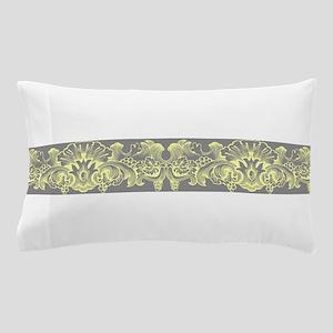 Yellow Gray Ornamental Border Pillow Case