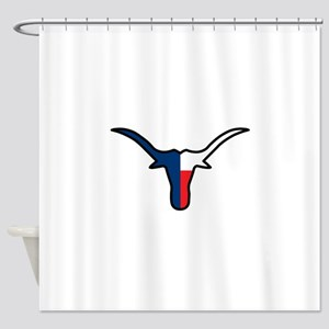 TEXAS FLAG LONGHORN Shower Curtain