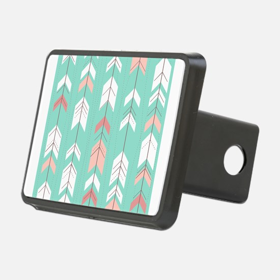 Pink Mint Arrows Pattern Hitch Cover