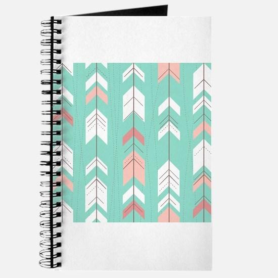 Pink Mint Arrows Pattern Journal