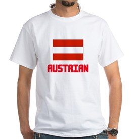 Austrian Flag Design T-Shirt