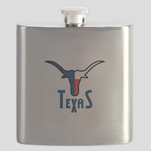 TEXAS LONGHORN Flask