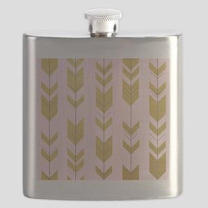 Pink Gold Arrows Pattern Flask