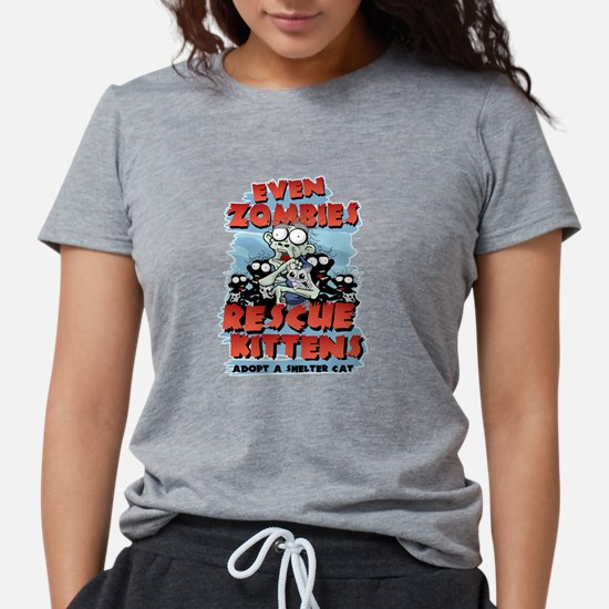 Even Zombies Rescue Kittens T-Shirt