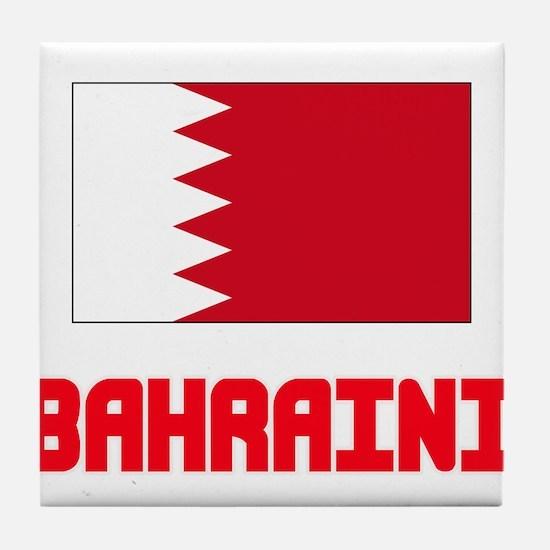 Bahraini Flag Design Tile Coaster