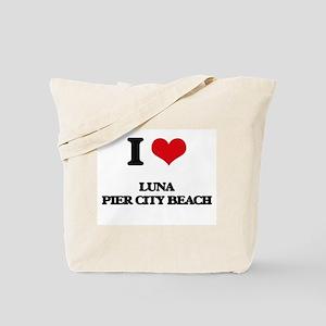 I Love Luna Pier City Beach Tote Bag