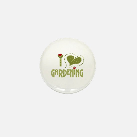 I Love Gardening Mini Button
