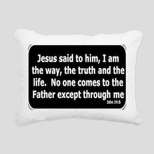 Jesus said to him Rectangular Canvas Pillow