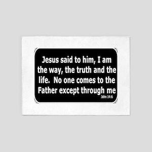 Jesus said to him 5'x7'Area Rug