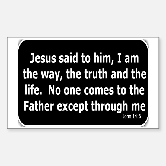 Jesus said to him Sticker (Rectangle)