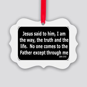 Jesus said to him Picture Ornament