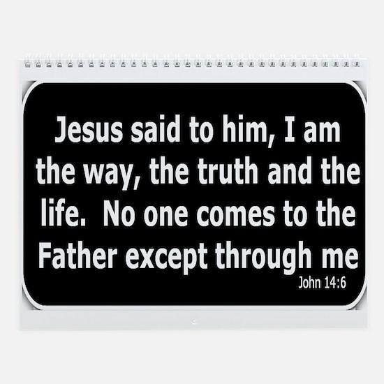 Jesus said to him Wall Calendar