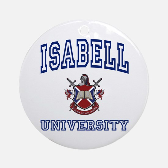 ISABELL University Ornament (Round)