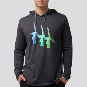 two large windmills Mens Hooded Shirt