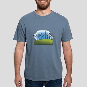 i love heart wind power windmills Mens Comfort