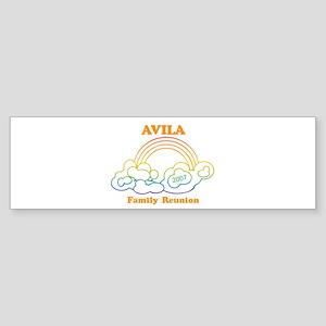 AVILA reunion (rainbow) Bumper Sticker