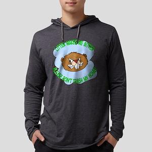 bitter Litter beaver Mens Hooded Shirt