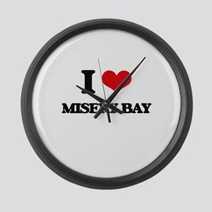 I Love Misery Bay Large Wall Clock