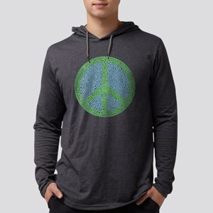 Peace footprints Mens Hooded Shirt