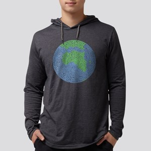 Carbon Footprint Mens Hooded Shirt