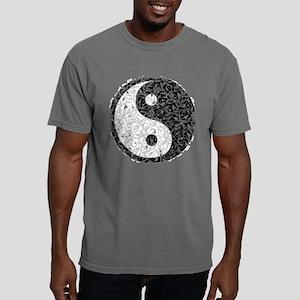 Ying Yang Footprints Mens Comfort Colors Shirt
