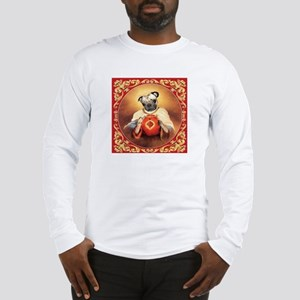 Pug Sacred Heart Long Sleeve T-Shirt