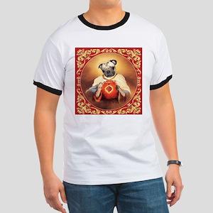 Pug Sacred Heart Ringer T