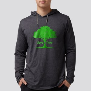 Save a Tree Mens Hooded Shirt