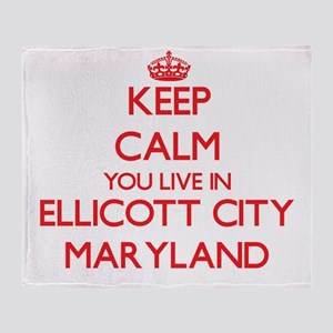 Keep calm you live in Ellicott City Throw Blanket