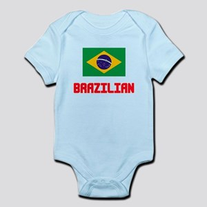 Brazilian Flag Design Body Suit