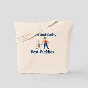 Best Buddies - Kaiden & Daddy Tote Bag