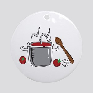 ITALIAN SAUCE COOKING Ornament (Round)