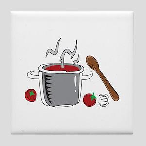 ITALIAN SAUCE COOKING Tile Coaster