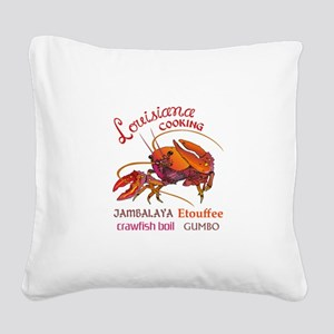 LOUISIANA COOKING Square Canvas Pillow