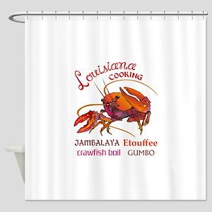 LOUISIANA COOKING Shower Curtain