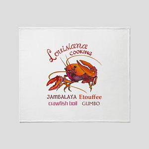 LOUISIANA COOKING Throw Blanket