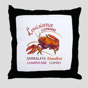 LOUISIANA COOKING Throw Pillow