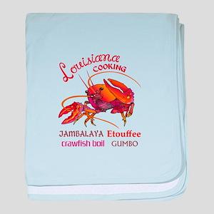 LOUISIANA COOKING baby blanket