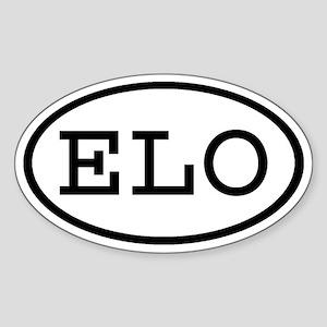 ELO Oval Oval Sticker