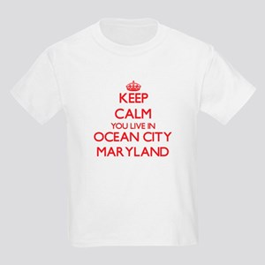 Keep calm you live in Ocean City Maryland T-Shirt