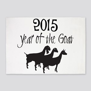 Year of the Goat Dairy Goats 5'x7'Area Rug