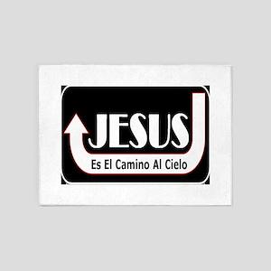 Jesus es el camino 5'x7'Area Rug