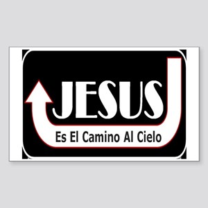 Jesus es el camino Sticker (Rectangle)