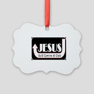 Jesus es el camino Picture Ornament