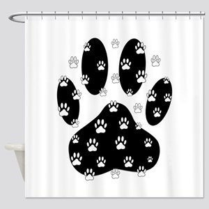 Dog Paw Prints Shower Curtains Cafepress